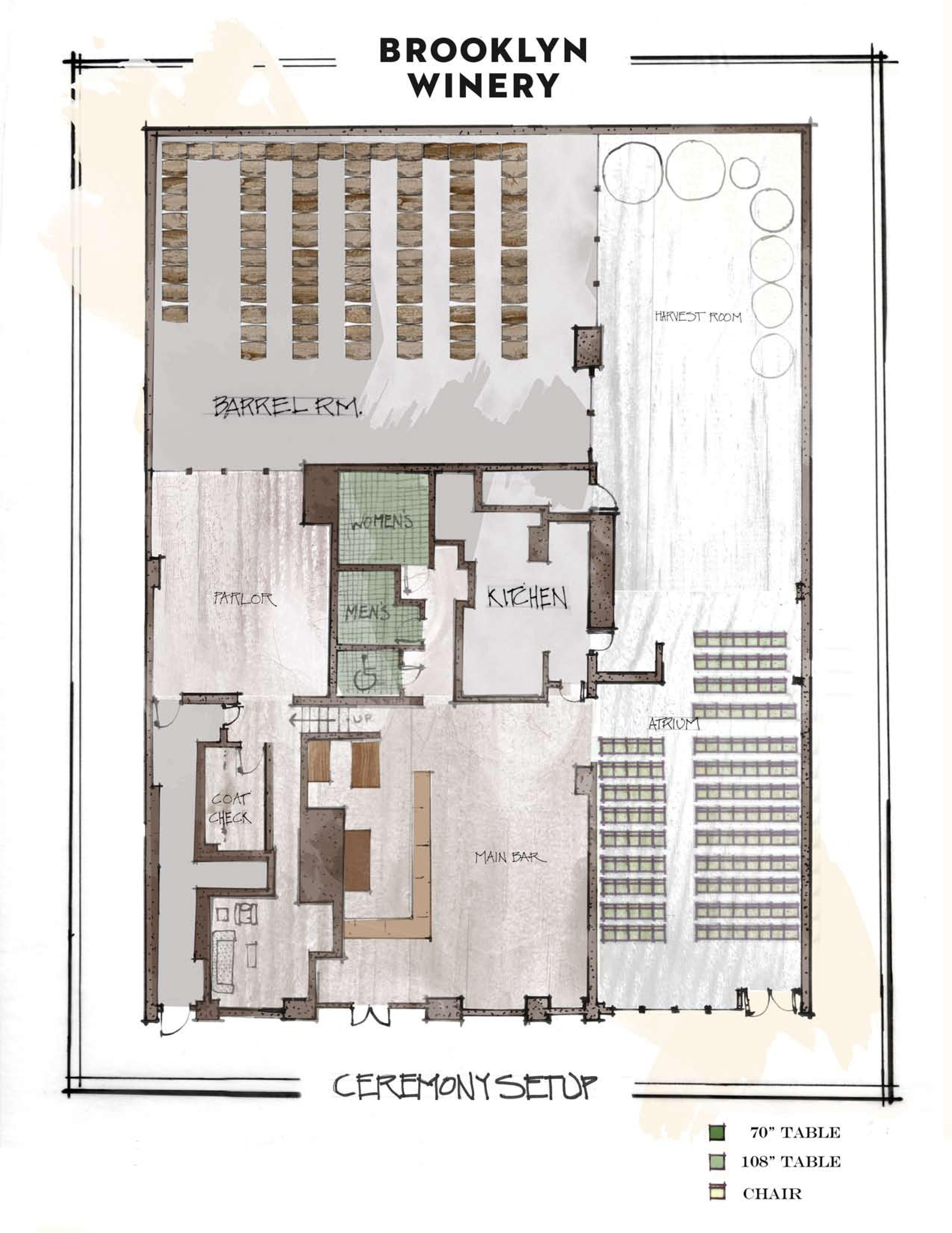 a unique new york wedding venue floorplans