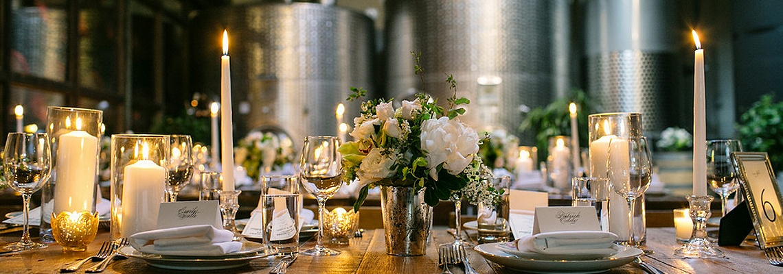 Brooklyn Winery Wedding Table Setting