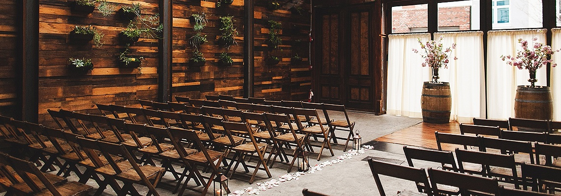 Brooklyn Winery Wedding Ceremony Setup