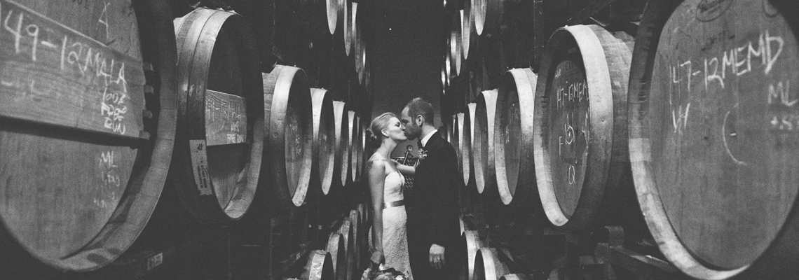 Brooklyn Winery Wedding Barrel Room Photos