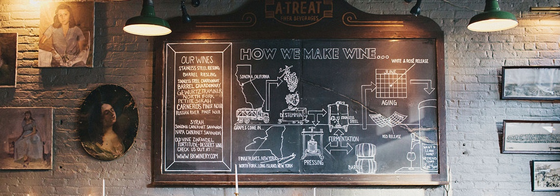 Brooklyn Winery Chalkboard
