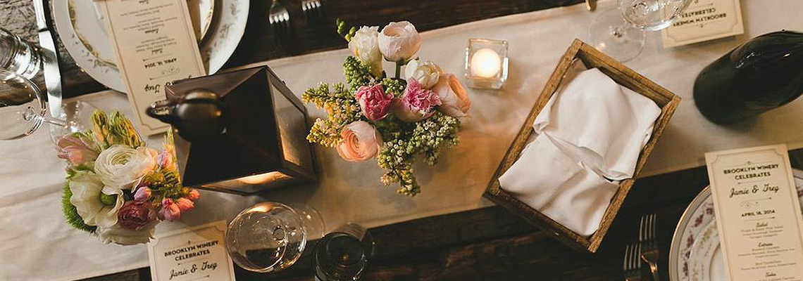 Brooklyn Winery Table Setting