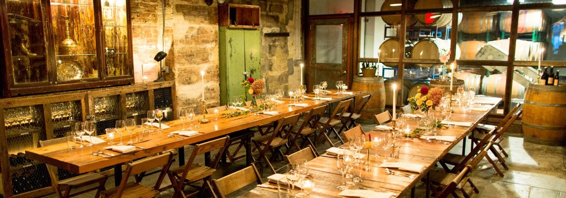 Brooklyn Winery Rehearsal Dinner Parlor