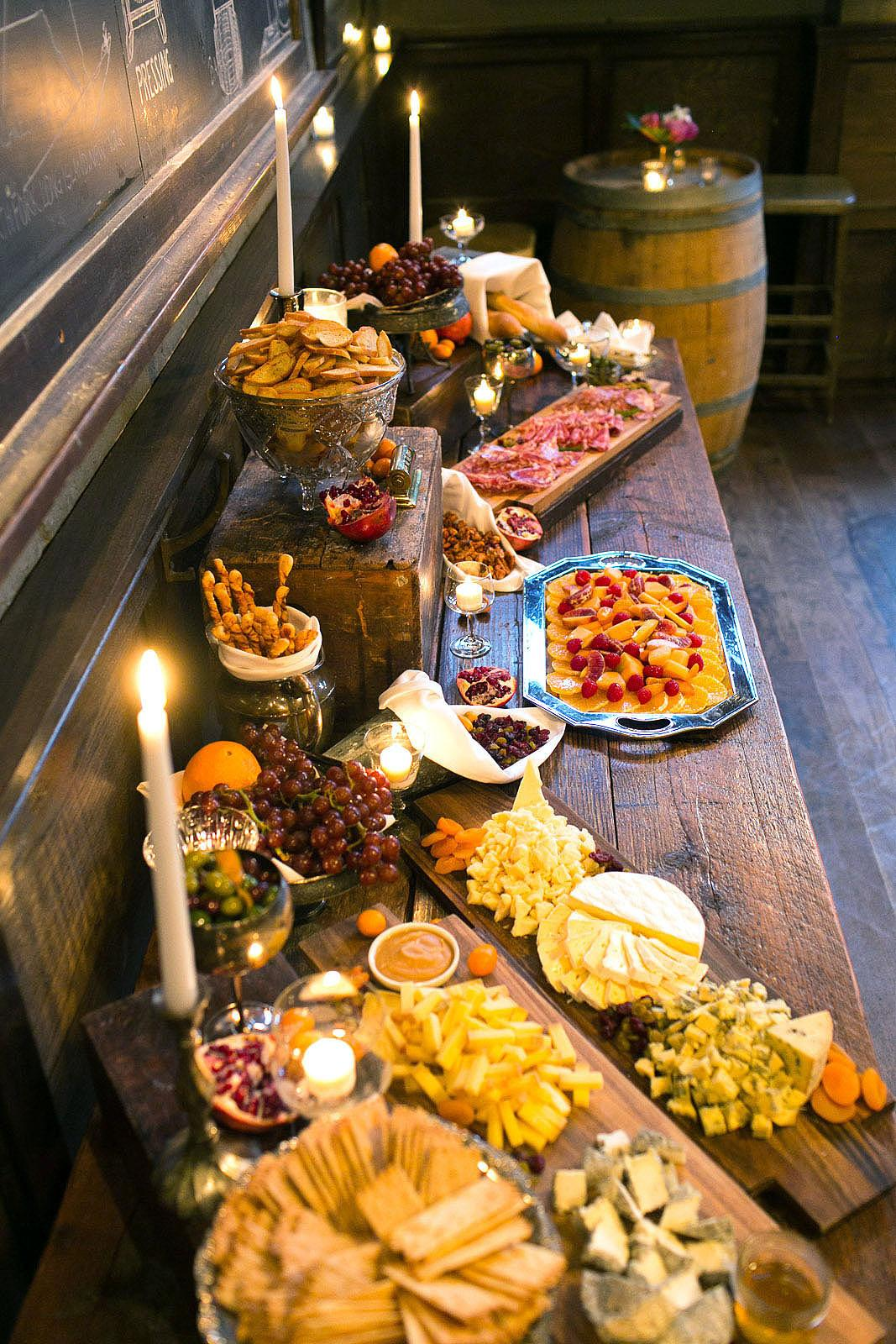 Brooklyn Winery Wedding Cuisine # Buffet Blanc Style New York