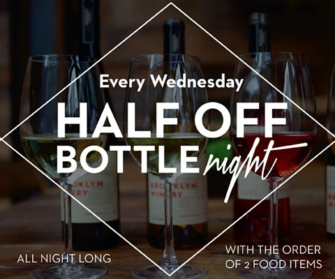 Half Off Bottle Night at Brooklyn Winery