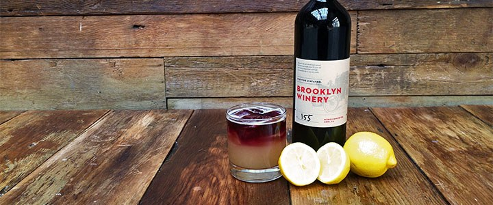 Brooklyn Winery Bedford Sour wine cocktail