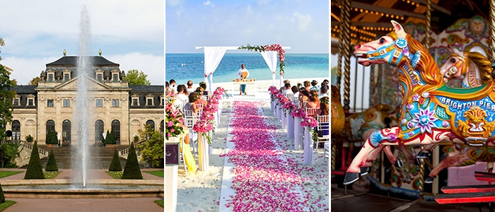 Wedding Venue, castle, beach, carousel