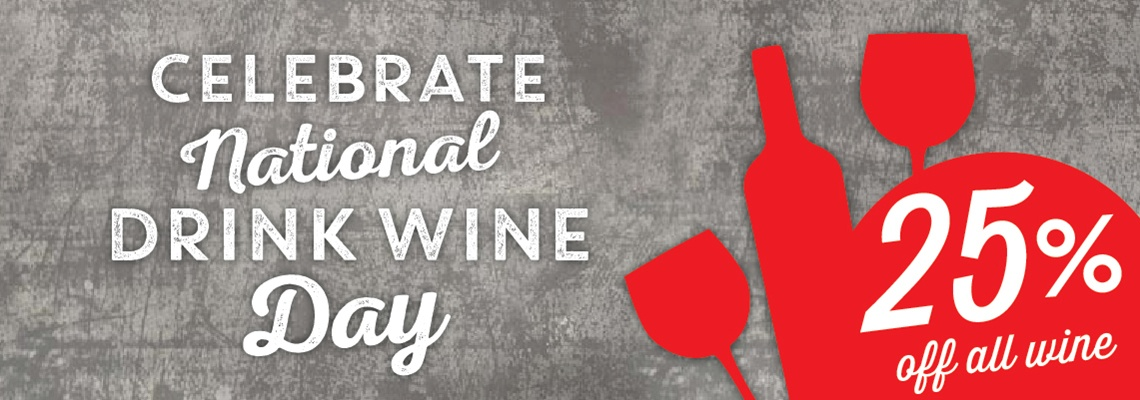 National Drink Wine Day Sale