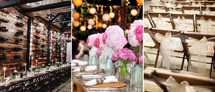 Wedding Venue, tables, chairs, flowers