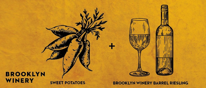Brooklyn Winery Thanksgiving Wine Pairing: Sweet Potatoes