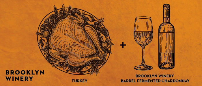 Brooklyn Winery Thanksgiving Wine Pairings: Turkey