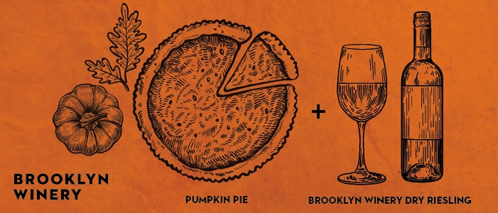 Brooklyn Winery Thanksgiving Wine Pairings: Pumpkin PIe