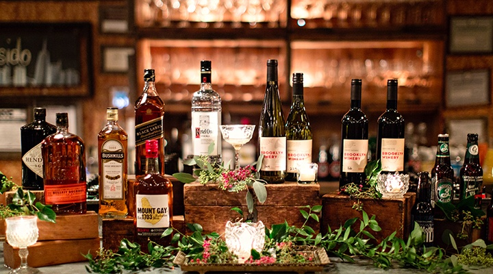 Winery Wedding Bar
