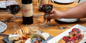 Brooklyn Winery Wine Bar Specials Bottle and Board