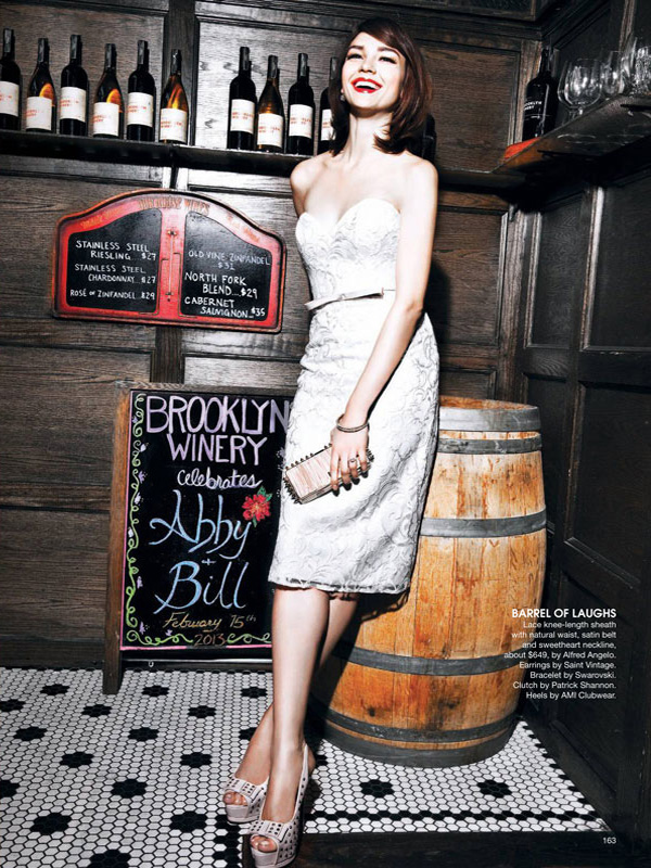 Bridal Guide Photo Shoot in Brooklyn Winery Entry